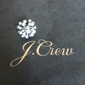 J.Crew Silver Spangle Statement Ring